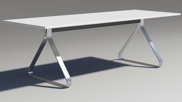 3d model fjord table square
