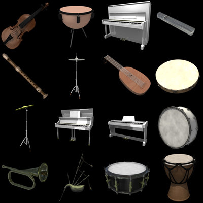 musical instruments max