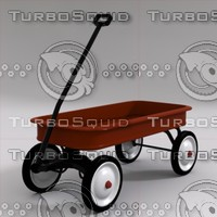 red wagon 3d model