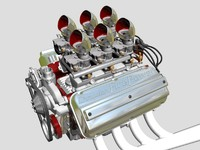 6x2 Stromberg Hemi V8 Engine