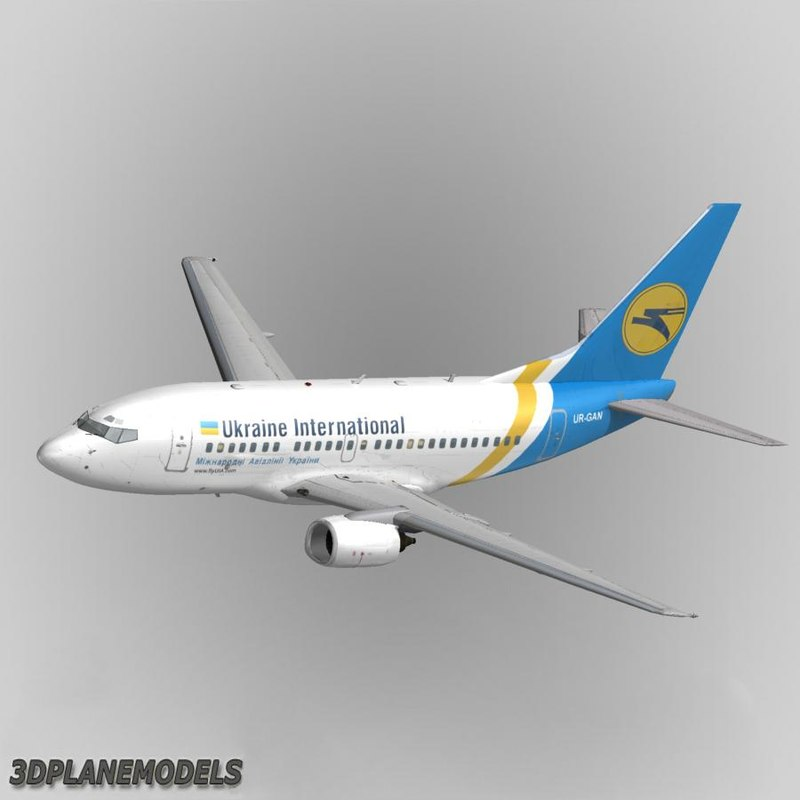 3d model b737-500 ukraine international