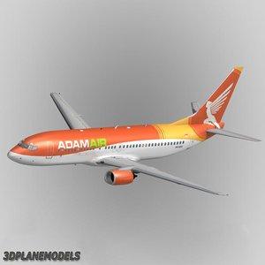3d b737-400 adamair