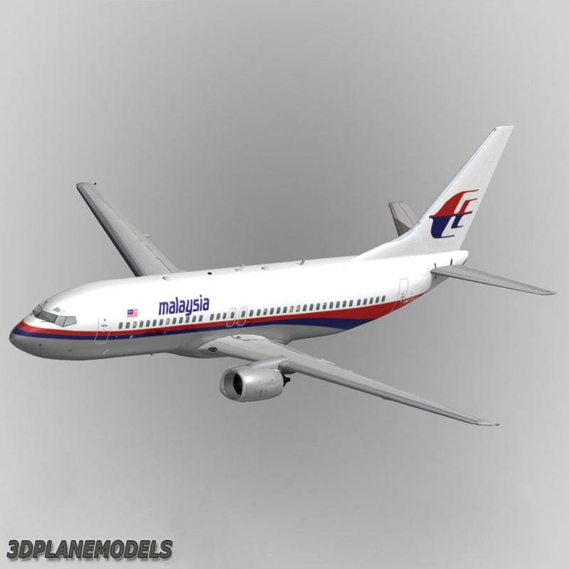 3d model of b737-400 malaysia airlines
