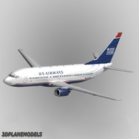 b737-400 airways 3d model