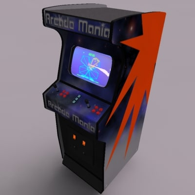 video arcade 3d model