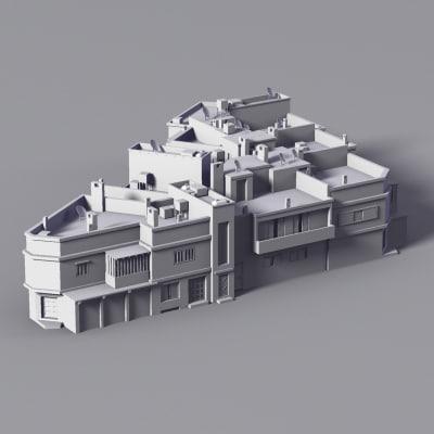 buildings equatorial 3d model