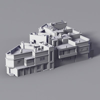 buildings equatorial 3d model
