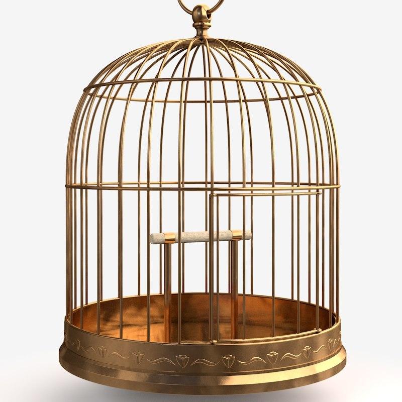 Antique Birdcage Cage 3d Model