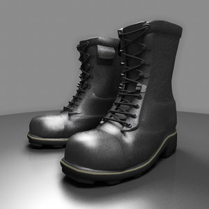 3dsmax army boots work