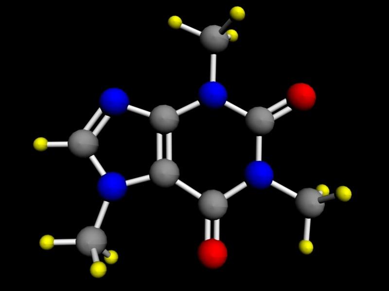 3ds max molecule caffeine