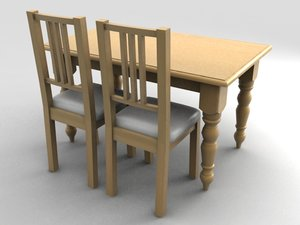 3dsmax dining table chairs