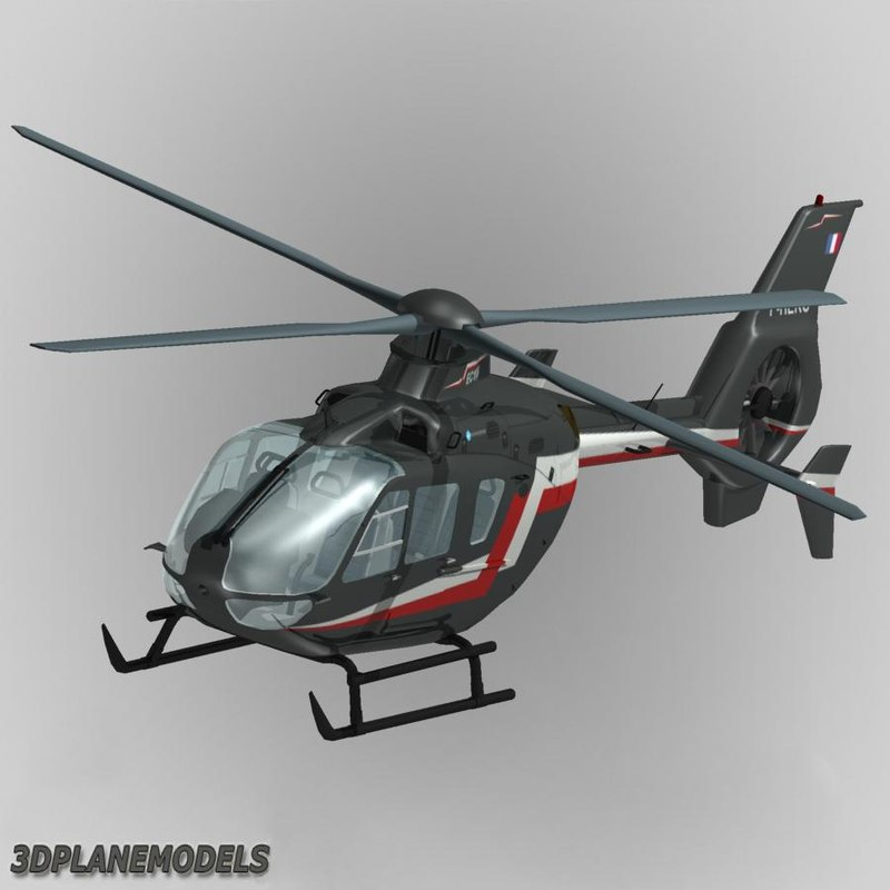 eurocopter ec-135 private livery 3d max