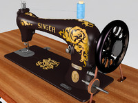 3d model old sewing machine