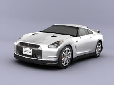 3d nissan gtr model