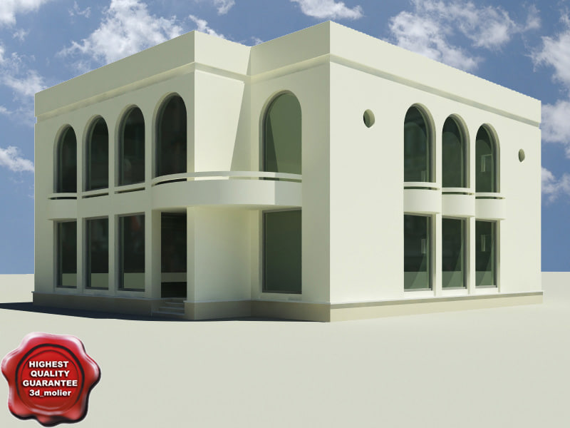 3d house modelled model