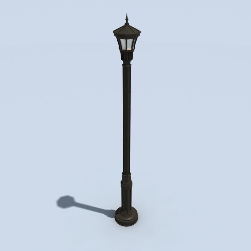 3ds max traditional light pole