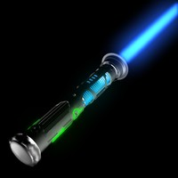 custom lightsaber light 3d model