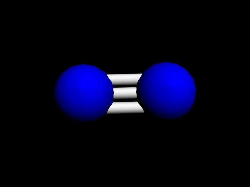 nitrogen molecule 3d model