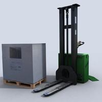 pallet stacker 3d model