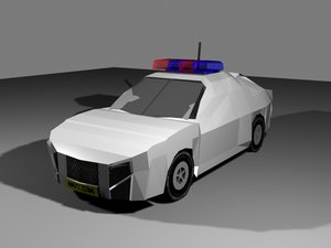 3ds max police cruiser