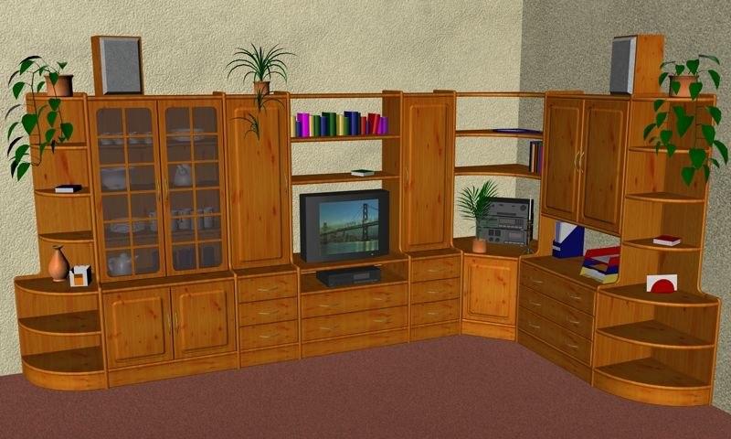 free shelf living room 3d model