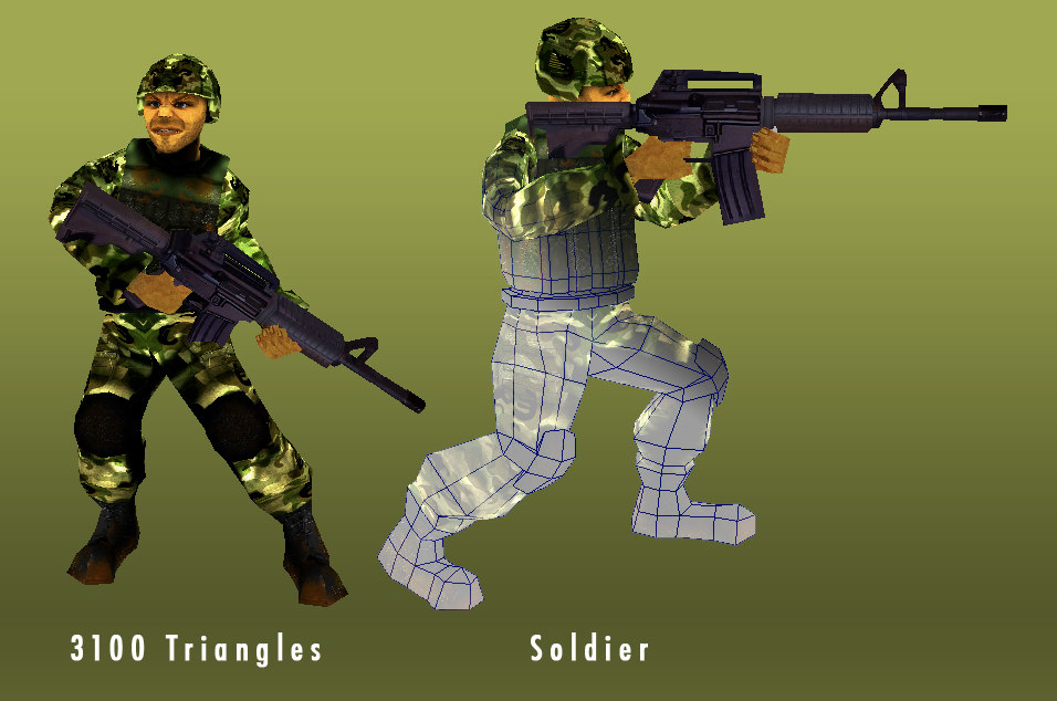 rigged soldier 3d ma