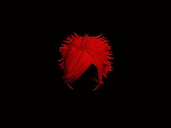 spiky hair 3d model