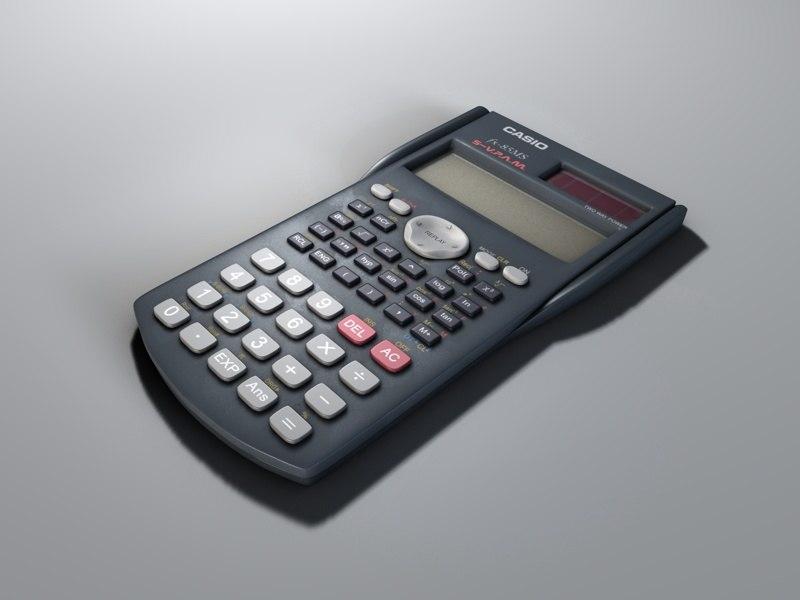 casio fx-85ms calculator 3d model