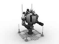 3d model turret sentinel