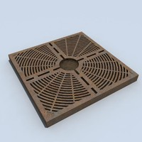 3d model rusted metal treegrate