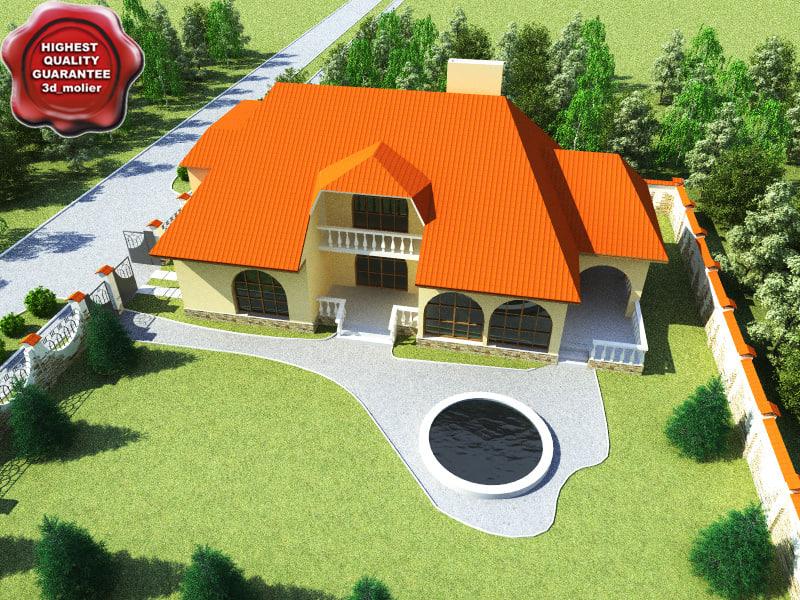 3ds villa modelled