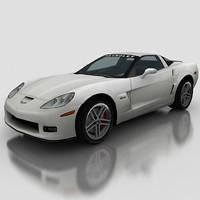 3d model corvette vette