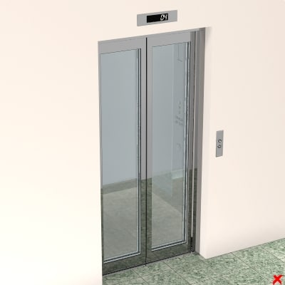 lift lobby entrance 3d dxf