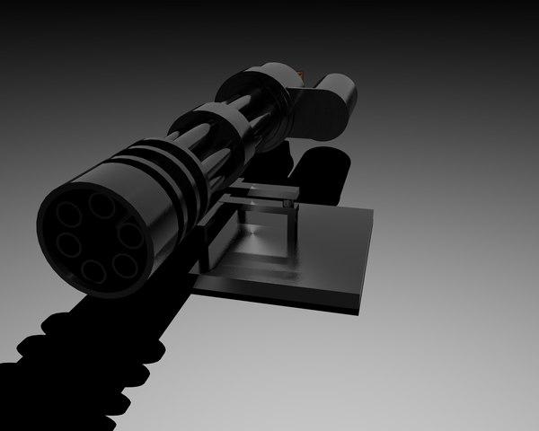 c4d m134 minigun