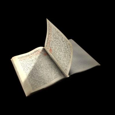 3d flipping book model