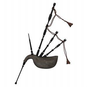 3d bag pipe bagpipe model