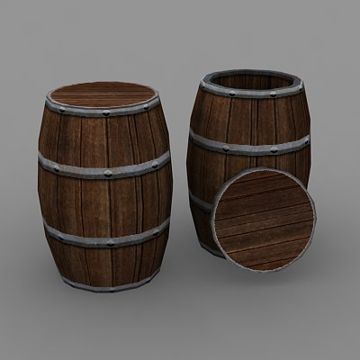 3d model barrel rpg