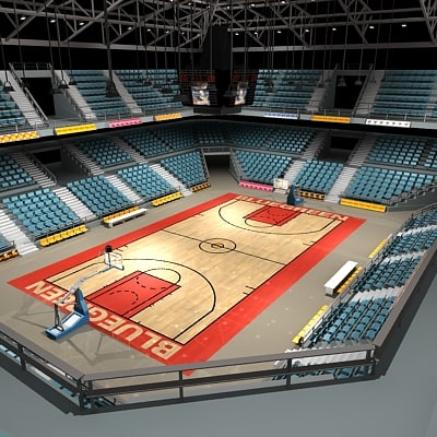 basketball arena courts ball 3d 3ds