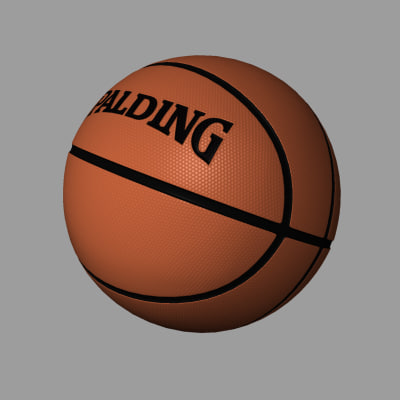basketball ball basket 3d model