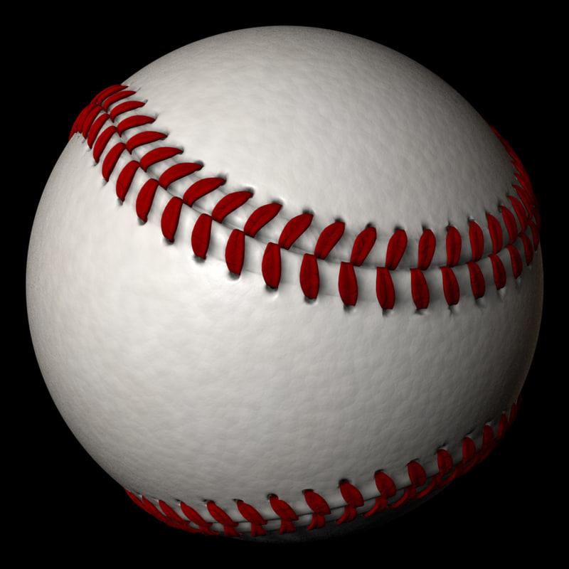 3d baseball stitches seam model