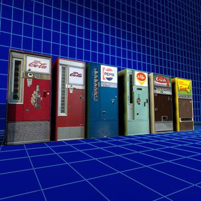 cola machines retro 01 3d model