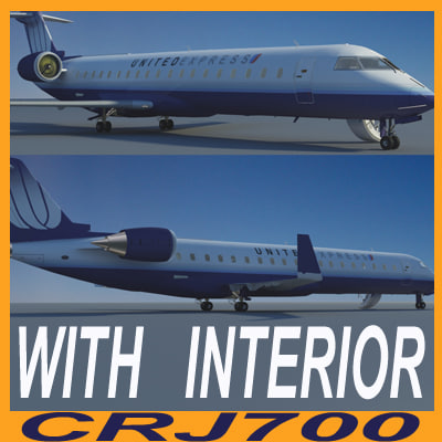 3d model bombardier interior united