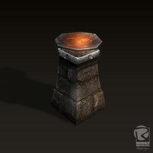 3d model dungeon torch d torch-v1