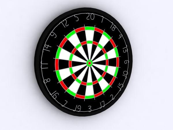3d dartboard dart board model