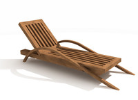 3dsmax daybed beach chair