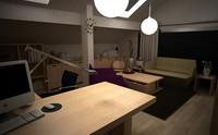 Ethnicraft Office Scene 3D Model