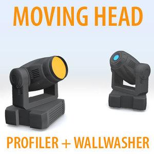 light moving head dxf