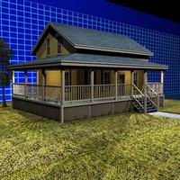 3d farm house 01 model