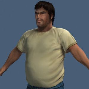 3d next-gen fat guy