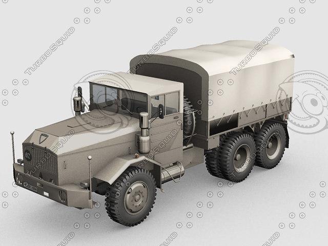 3d army truck model